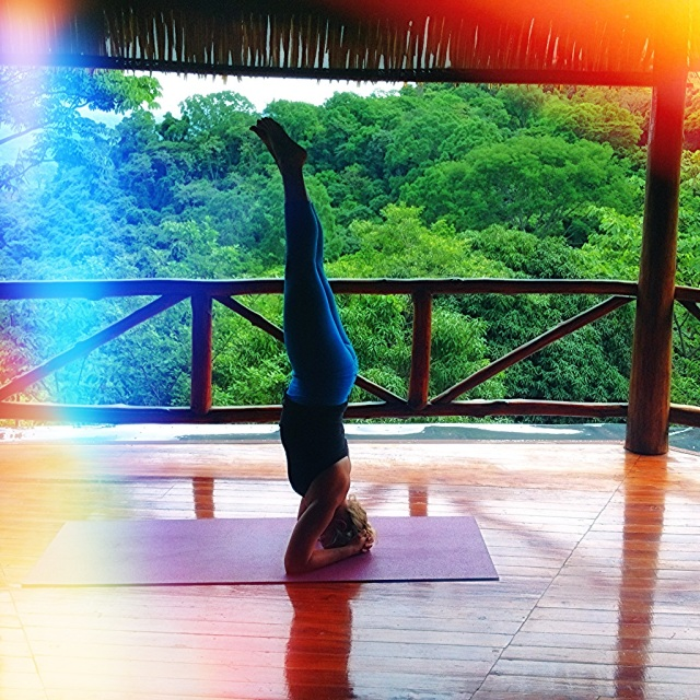 Headstand in Costa Rica!